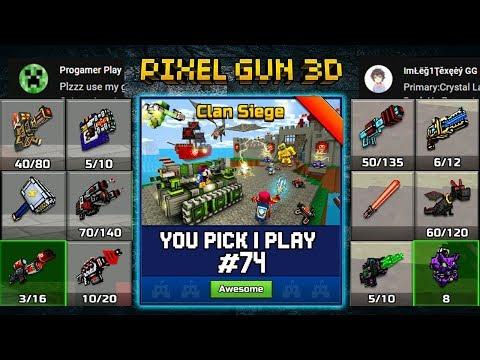 You Pick,I Play! #74 - Clan Siege Battle - Pixel Gun 3D