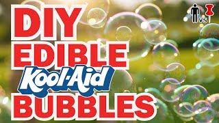 DIY EDIBLE Kool Aid BUBBLES - Man Vs Pin #105