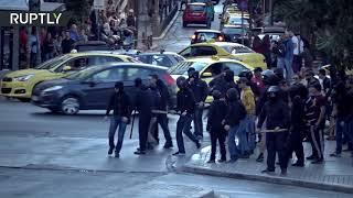 Greek Orthodox organizations protest gender identity law, Antifa counters demonstration