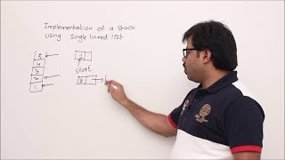Implementation of Stack using Linked List