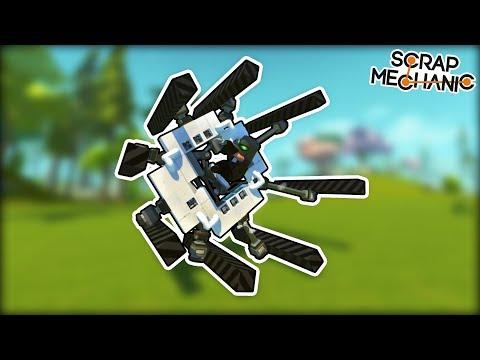 Piston Powered Wheels Are The Future of Transportation! (Scrap Mechanic Gameplay)