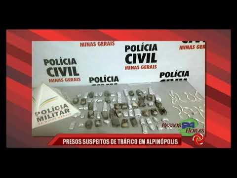 Presos suspeitos de tráfico de drogas em Alpinópolis