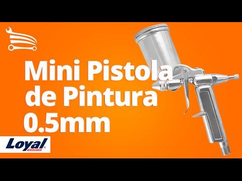 Mini Pistola de Pintura de Gravidade com Bico de 0.5mm - Video