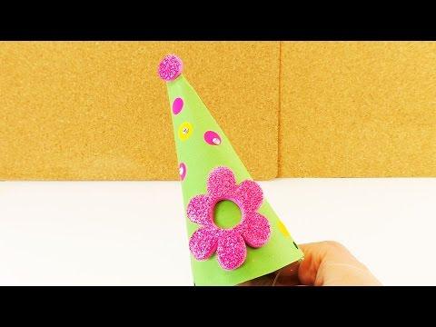 Partyhüte basteln | Für Kindergeburstage undSilvester | Ganz einfaches DIY für Kinder