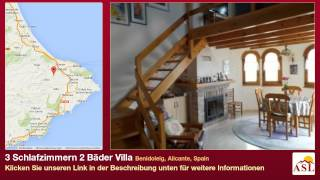 preview picture of video '3 Schlafzimmern 2 Bäder Villa zu verkaufen in Benidoleig, Alicante, Spain'