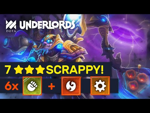 ★★★ SCRAPPY IS BACK! Knockout: 6 Scrappy Dragon Inventor Build! | Dota Underlords