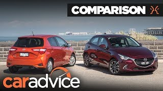 Toyota Yaris v Mazda2 Comparison | CarAdvice