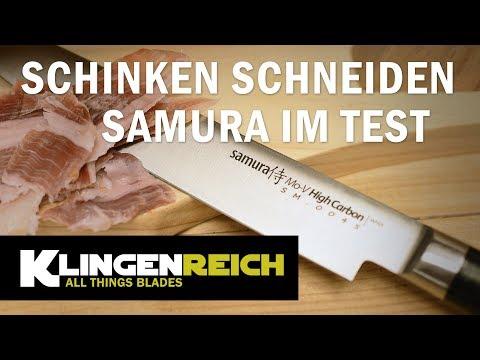 Klingenreich - Schinken schneiden - Samura im Test