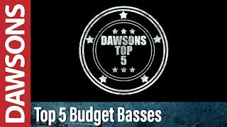 Top 5 Budget Bass Guitars