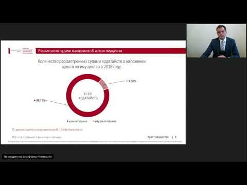 Арест имущества как обеспечительная мера по уголовным делам // Вебинар на Закон.ру