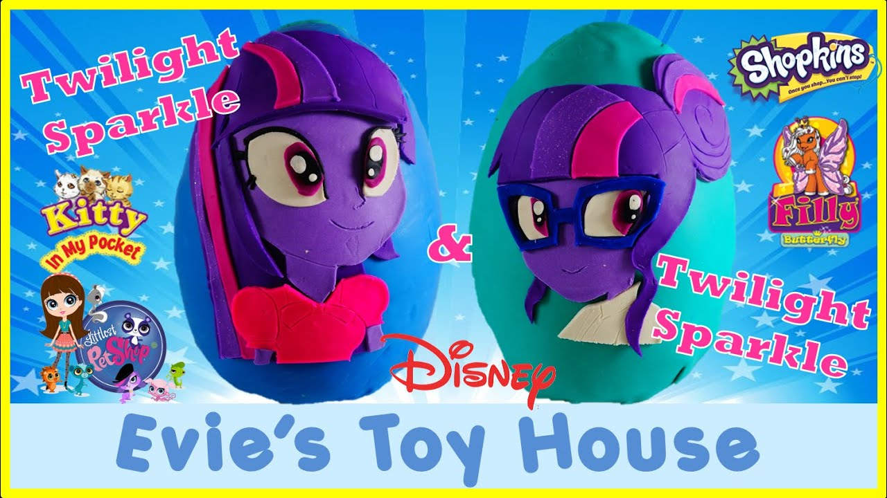 MY LITTLE PONY FRIENDSHIP GAMES Giant Play-doh Egg Twilight Sparkle Meets Sci-Twi