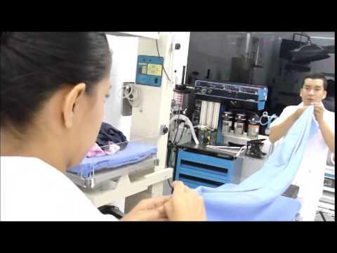 Doblado de ropa (Para bultos quirúrgicos)