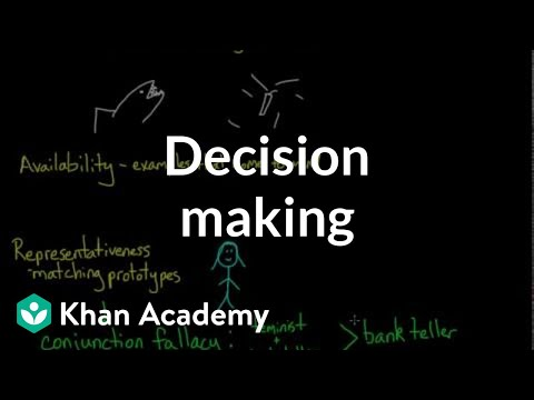 Decision making (video) | Cognition | Khan Academy