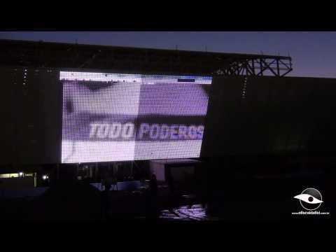 Por dentro da Obra - Telão de Led é testado na Arena Corinthians em 18/06/2013