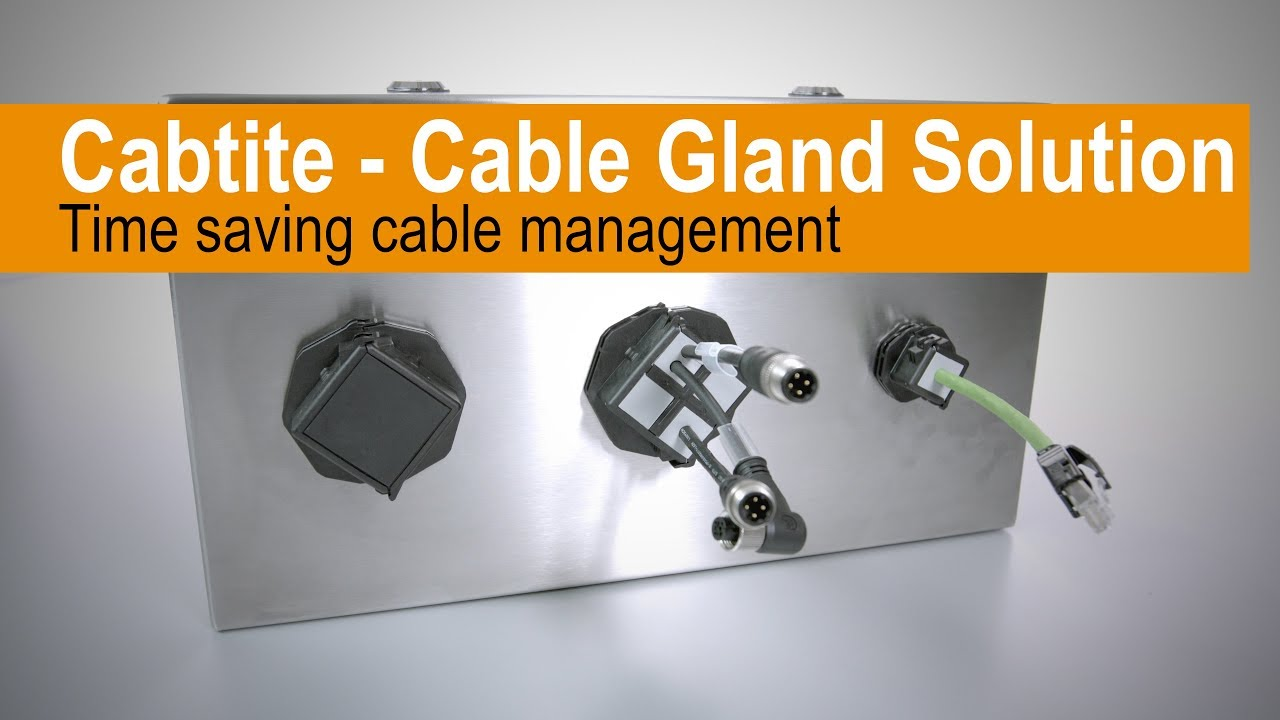 Handling - Cabtite Cable Entry System separable retrofit Cable Gland Solution