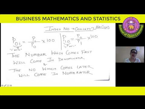 BUSINESS MATHEMATICS AND STATISTICS - BILINGUAL - TIME SERIES, INDEX NUMBER By - AANCHAL JAIN