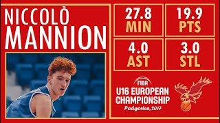 Nico Mannion - Highlights - 2017 U16 European Championship