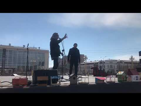 Эпатажное выступление Джигурды на площади Ленина