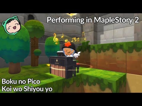 MapleStory 2 - Boku no Hero - The Day [OP1] on piano - смотреть
