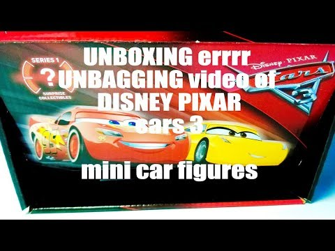 Disney Pixar Cars 3 Surprise Collectible Blind Bag Toys From I'm A Thinking Toy UNBOXING