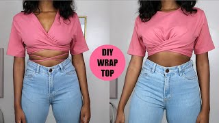 DIY Wrap Top From A T-Shirt (Two Ways)
