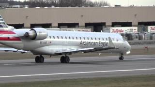 American Airlines, American Eagle, CRJ-700, Takeoff (MHT)