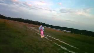 Dancing RC plane filmed by AR.Drone (Vnukovo 4)