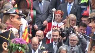 preview picture of video 'Berga. La Patum 2013. Els Administradors.  Diumenge'