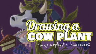 Sims 4 Fan Art – Drawing The Cow Plant