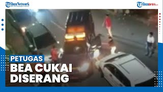 Video Petugas Bea Cukai Dikeroyok Belasan Orang saat Buntuti MInibus yang Bawa Rokok Ilegal