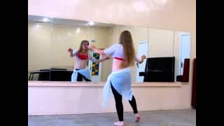 Смотреть онлайн Урок восточного танца: движения животом «каракатица»
