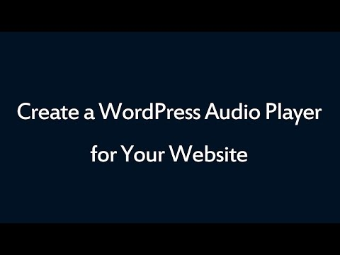 <span style=&quot;font-size:1.4em;line-height:2em;font-weight:bold&quot;>Audio Player</span><br><span>Best WordPress audio player plugin ever</span>
