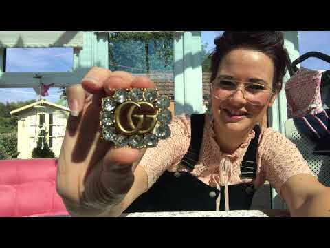 Review of my Gucci metal double g crystal brooch the most sparkly designer accessorie ever