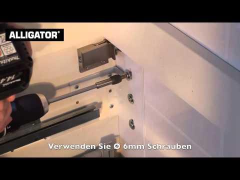 Badmöbel an Porenbeton befestigen mit ALLIGATOR Dübel & Anker