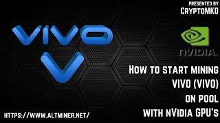 How to start mining VIVO (VIVO) on pool with NVIDIA GPU