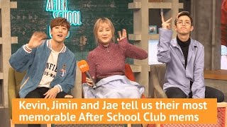 After School Club hosts Kevin, Jimin and Jae