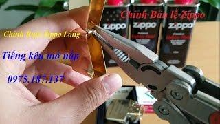 Hướng dẫn chỉnh chốt bản lề zippo | Chỉnh zippo khi bị lỏng ruột | Chỉnh tiếng mở nắp Zippo