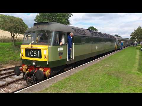 BR Green D1661 (47840) 'North Star' departs Washford on the …