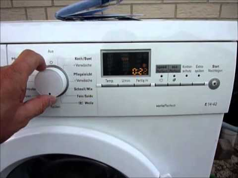 Waschmaschine Teil 9, Fehler von Siemens Waschmaschine auslesen