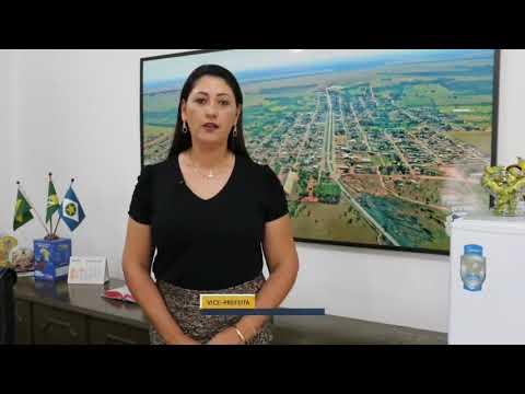 Pronunciamento da Prefeita em exercício Angelita Amorim - ALTO GARÇAS MT