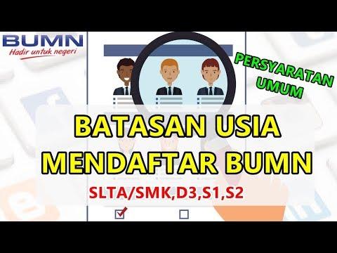 BATASAN USIA MENDAFTAR LOWONGAN BUMN (DITUTUP 24 MARET 2019)