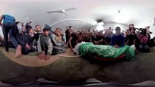 Gaza: Teargas, bullets and burning tires. VR/360