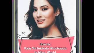 How to vote Shrinkhala Khatiwada in Miss World   Voting method for Miss world   Multimedia   O Sujan