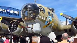 Boeing B-17 Flying Fortress Bomber WWII. Video tour inside and out. Collins Foundation.