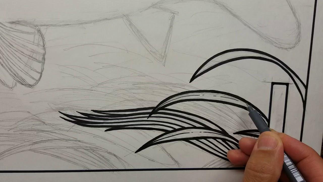 Carp Pen & Ink Drawing