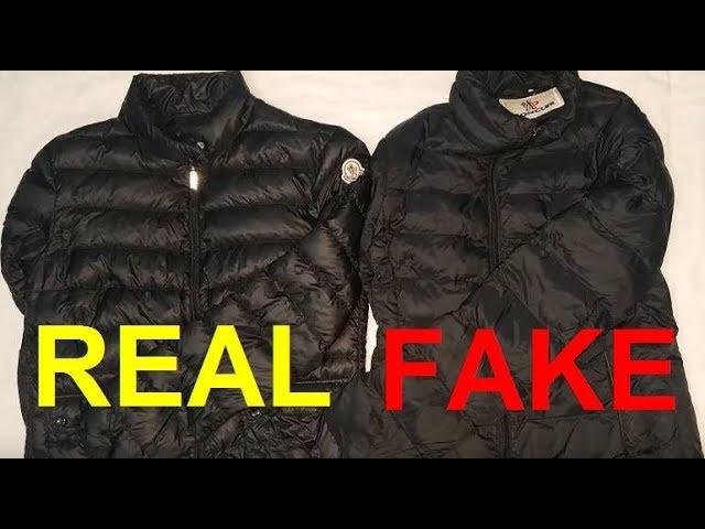 Real vs. Fake Moncler jacket. How to spot fake Moncler.