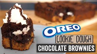 Oreo Cookie Dough Chocolate Brownies (aka slutty brownies)