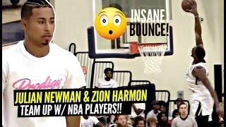 Julian Newman Teams Up w/ NBA Players Derrick Jones & Bam Adebayo!! INSANE BLOCK By Bam
