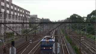 2012.5.28 常磐線5388レEF510安中貨物 北柏停車・特急待避・発車