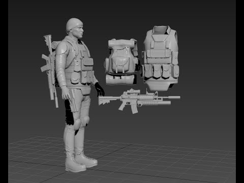 Modeling Soldier 3ds max tutorial part – 1